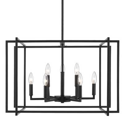 Golden Lighting Tribeca 9-Light Black Chandelier with Black Accents - Home Depot