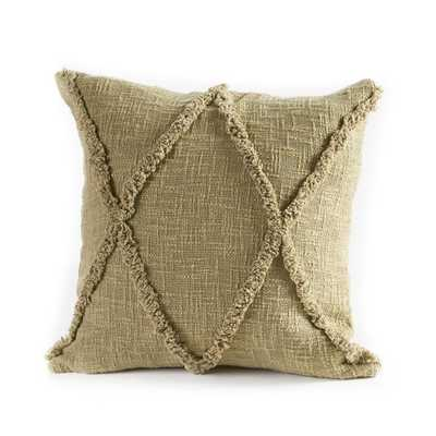 Carlton Diamonds Olive and Green 20 in. x 20 in. Pillow, Olive Green - Home Depot