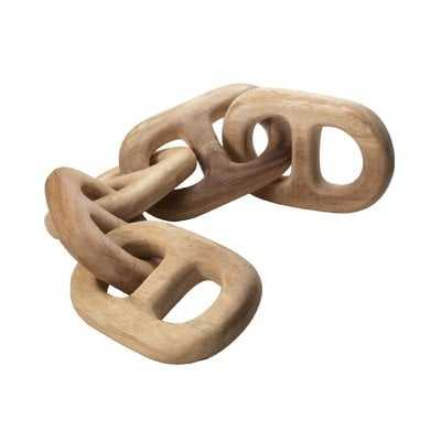 Cottrell Hand-Carved Chain 5 Link Sculpture - AllModern