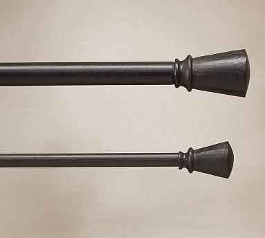 "Cast-Iron 1.25"" diam. Drape Rod Set, Extra Large, 96-120"" - Pottery Barn"
