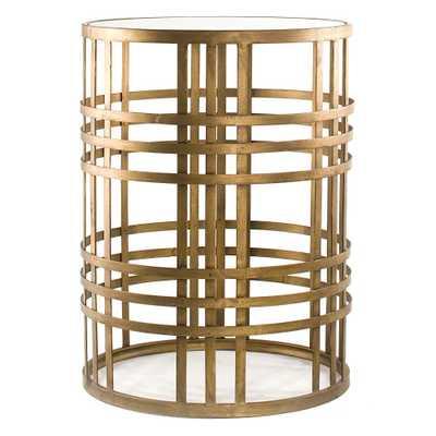 Woven Brass Side Table Brass - FirsTime, Bronze Cloud - Target