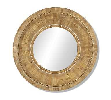 Round Wooden Wall Mirror - Pottery Barn