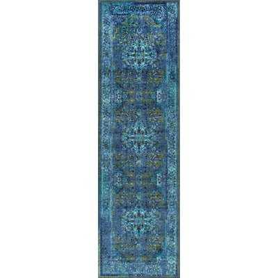 Brennen Southwestern Blue Area Rug - AllModern