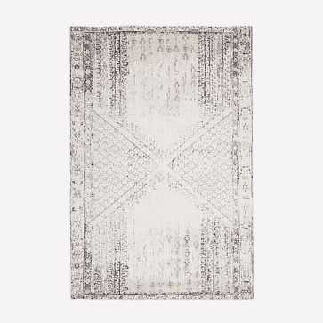 Distressed Ensi Rug, Stone White, 6'x9' - West Elm