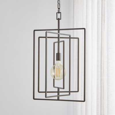 Pivot Black Caged Pendant Light - Crate and Barrel