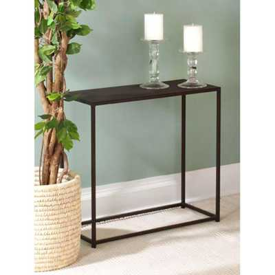Urban Black Console Table - Home Depot