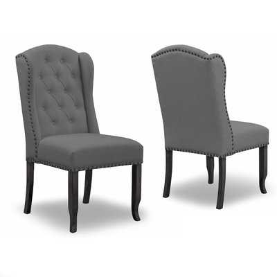 Chevaliers Upholstered Dining Chair set of 2 - Wayfair
