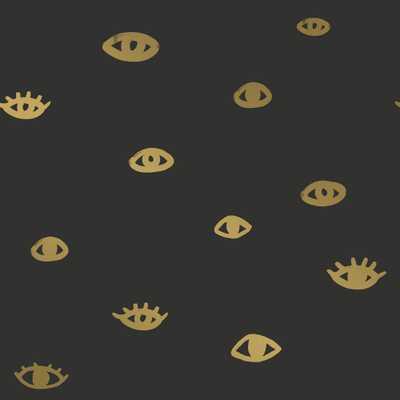 Tempaper Bobby Berk Eye See You Black & Gold Self-Adhesive, Removable Wallpaper - Home Depot