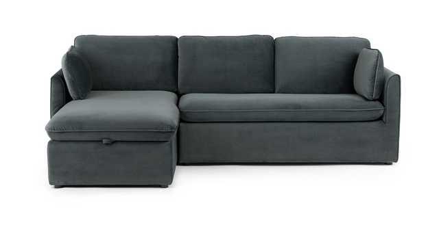 Oneira Deep Sea Blue Left Sofa Bed - Article
