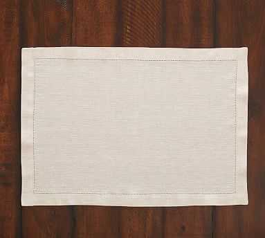 PB Classic Placemat, Set of 4 - Flax - Pottery Barn