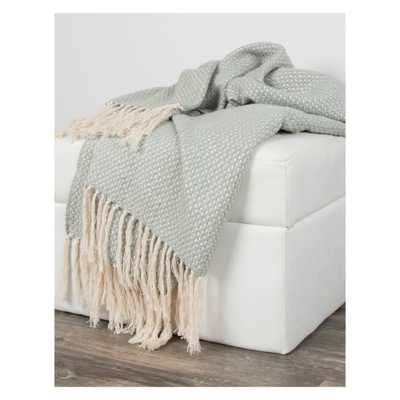 """Throw Blankets 50""""X60"""" Green - Rizzy Home - Target"""