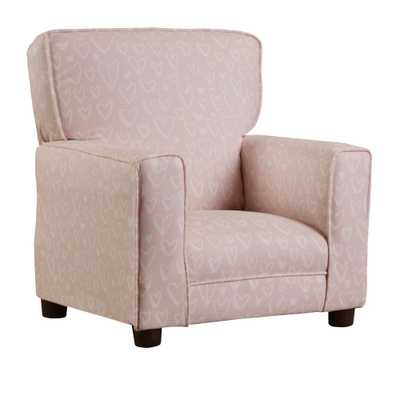 Chapter 3 Coco Blush Pink Upholstered Juvenile Kids Arm Chair, Lovely Blush Pink - Home Depot