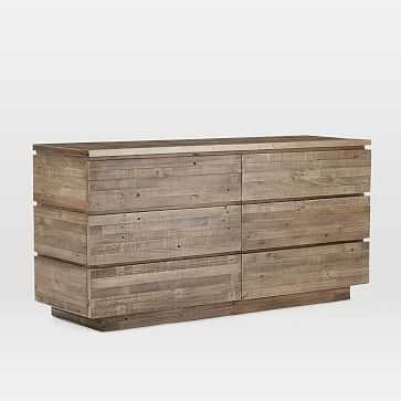 Emmerson(R) Modern Reclaimed Wood 6-Drawer Dresser, Stone Gray - West Elm