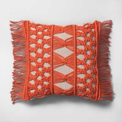 Camellia Macrame Mini Throw Pillow Beige - Opalhouse - Target