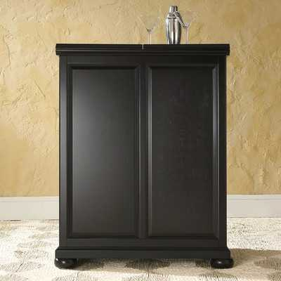 Pottstown Expandable Bar Cabinet with Wine Storage - Wayfair