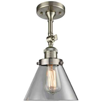 "Large Cone 8""W Satin Brushed Nickel Adjustable Ceiling Light - Style # 40Y20 - Lamps Plus"