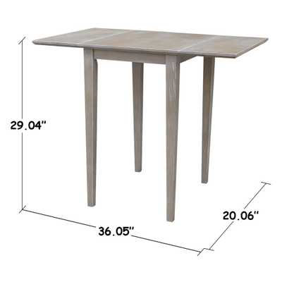 Weathered Gray Small Drop-Leaf Dining Table - Home Depot