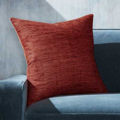 "Trevino Cinnabar Pillow with Down-Alternative Insert 20"" - Crate and Barrel"