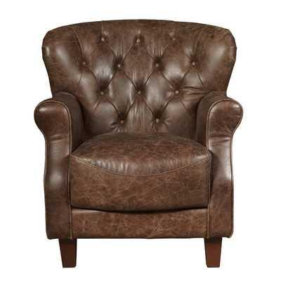 Chief Leather Club Chair - Wayfair