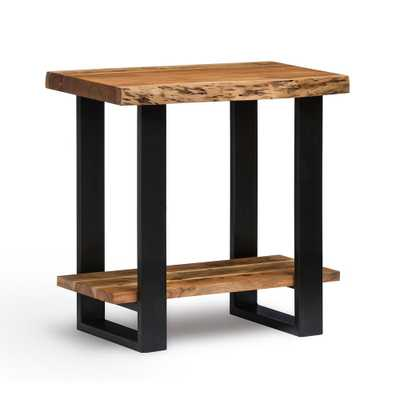 Alpine Natural End Table - Home Depot