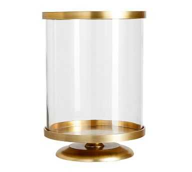 Chester Brushed Hurricane, Brass - Large - Pottery Barn