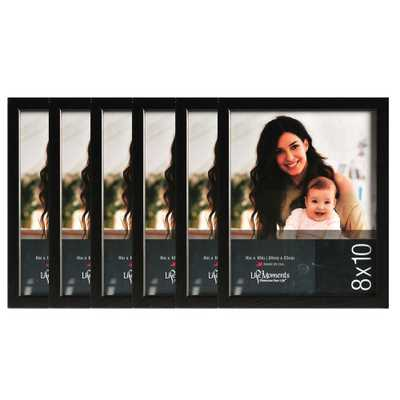 6-Opening 8 in. x 10 in. Picture Frame, Black - Home Depot