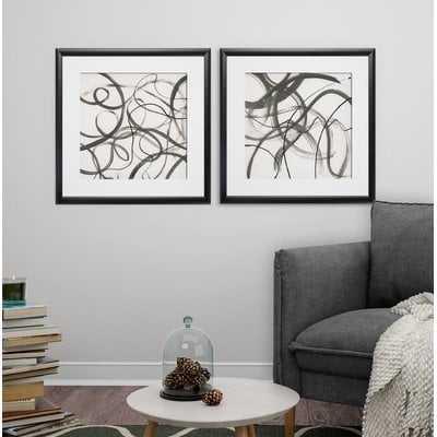 'Dancing' 2 Piece Framed Print Set - Wayfair