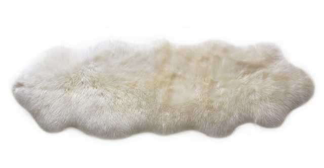 Lanna Ivory Sheepskin Throw 2 x 6 - Article