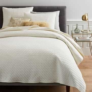 Gramercy Coverlet, King/Cal King, Pearl - West Elm