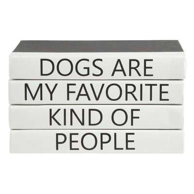 4 Piece Dogs Quote Stack Decorative Book Set - Wayfair