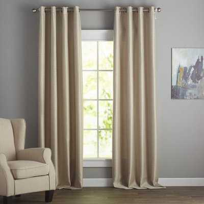 Vaughn Solid Room Darkening Grommet Single Curtain Panel - AllModern