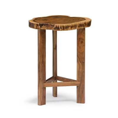 Alaterre Furniture 20 Berkshire Natural Brown Live Edge Round End Table Solid Wood - Target