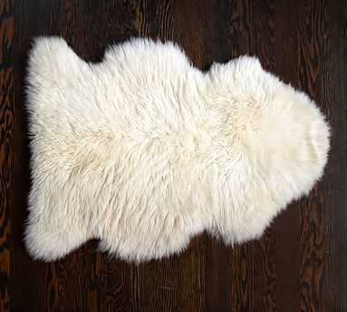 Sheepskin Rug, 2x3', Ivory - Pottery Barn