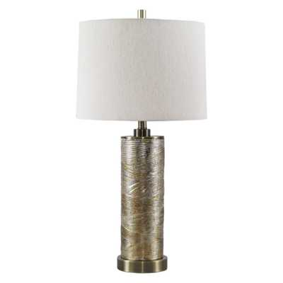 Farrar Glass Table Lamp Gold (Lamp Only) - Signature Design by Ashley - Target