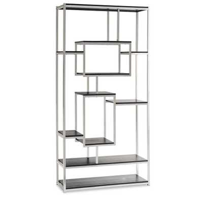 Harper Chrome (Grey) Modern Bookcase - Home Depot