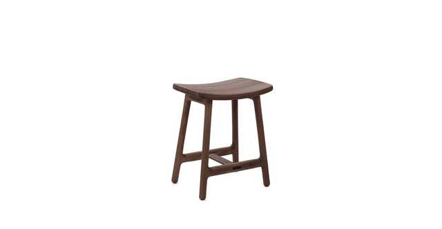 Esse Matte Walnut Stool - Article