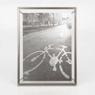 """5""""X7"""" Frame With Symmetrical Wire Back Brushed Nickel - Project 62 - Target"""