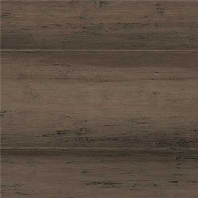 Hand Scraped Strand Woven Warm Grey 3/8 in. T x 5-1/8 in. W x 72-7/8 in. L Engineered Click Bamboo Flooring - Home Depot