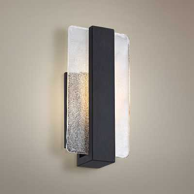 """Cascadia Piastra Glass 11 3/4""""H Black LED Wall Sconce - Style # 1F012 - Lamps Plus"""