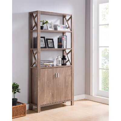 "Epple Creative Standard Bookcase By Gracie Oaks 75"" H Office Home Utility Console Bookshelf Display Storage Hazelnut Finish - Wayfair"