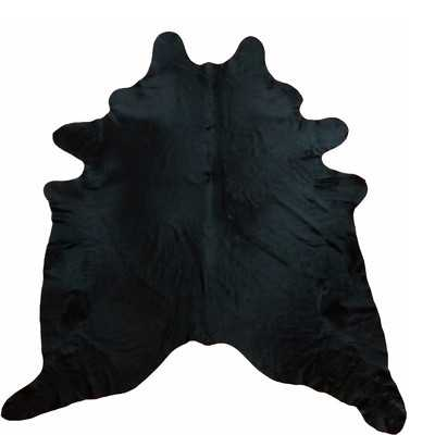Large Dyed  Brazilian Cowhide Black Area Rug - Wayfair