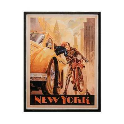 'NYC' Framed Graphic Art Print on Wood - Wayfair