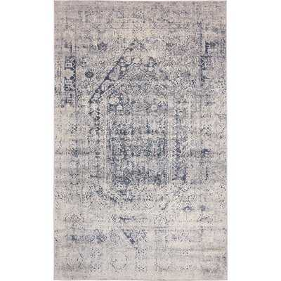 Abbeville Gray/Navy Blue Area Rug - Wayfair