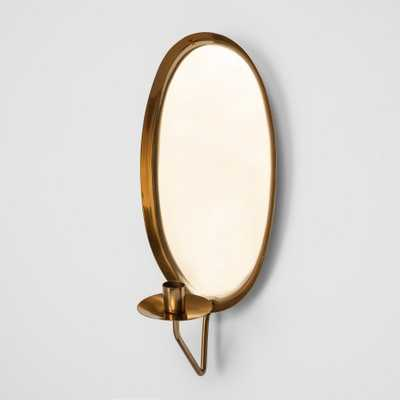 Candle Sconce Brass - Smith & Hawken, Gold - Target