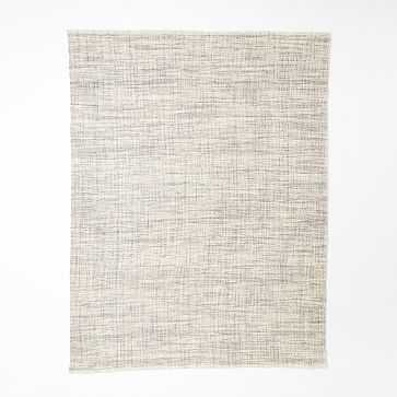 Heathered Basketweave Wool Rug, 8'x10', Steel - West Elm
