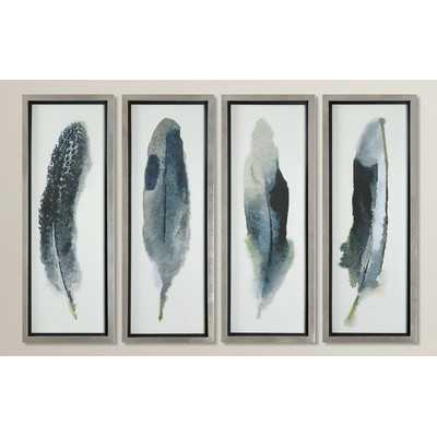 Feathered Beauty Prints 4 Piece Framed Graphic Art Set - Wayfair