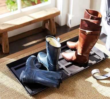Blacksmith Shoe/Boot Tray - Pottery Barn