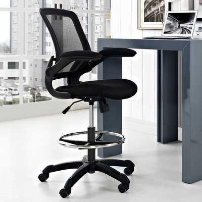 Hirst High-Back Mesh Drafting Chair - Wayfair
