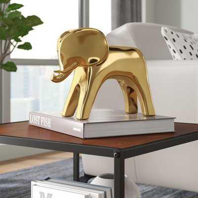 Twinspur Elephant Gold Figurine - AllModern