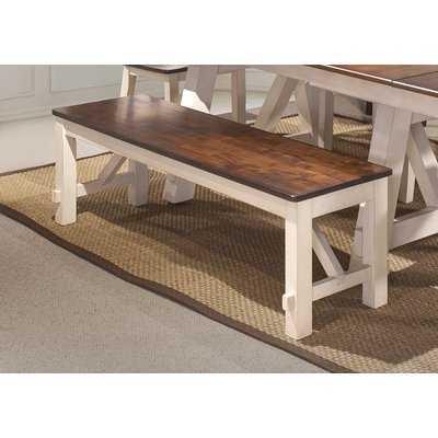 Keturah Farmhouse Solid Wood Bench - Wayfair